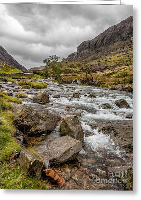 Stream Digital Greeting Cards - Valley Stream Greeting Card by Adrian Evans