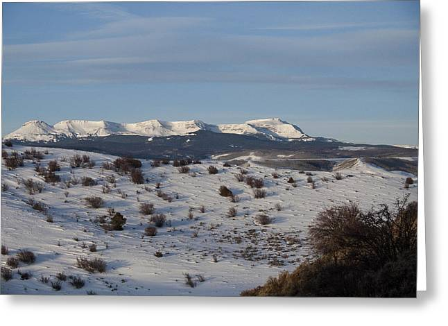 Valley View Of Flat Tops Greeting Card by Daniel Hebard