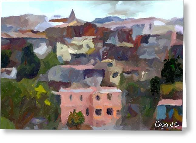 Fineart Pastels Greeting Cards - Valparaiso - Chile Greeting Card by Carlos Camus
