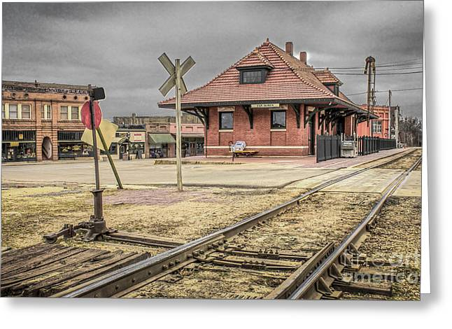 Van Buren Arkansas Greeting Cards - Van Buren AR Train Depot Greeting Card by Jim Raines