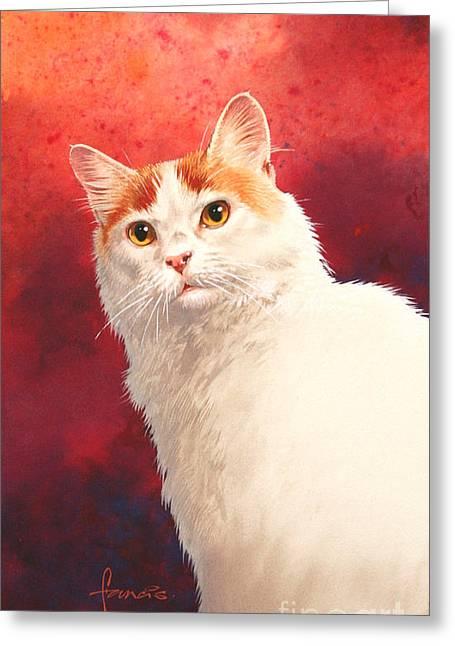 Francis Greeting Cards - Van Cat Greeting Card by John Francis