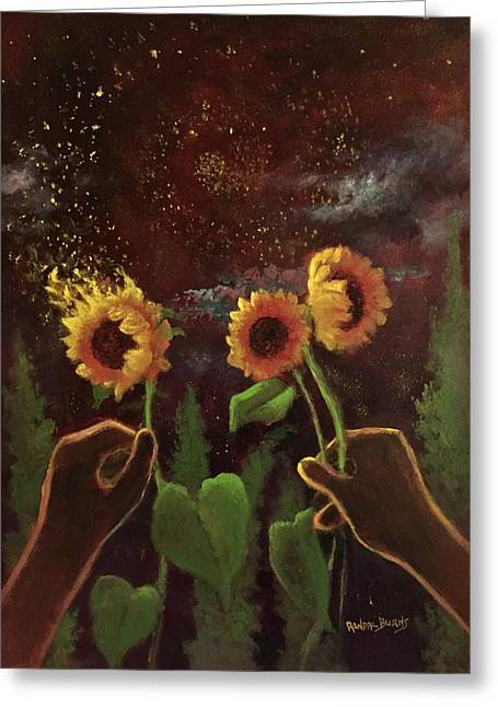 Van Gogh Dreams Greeting Card by Randol Burns