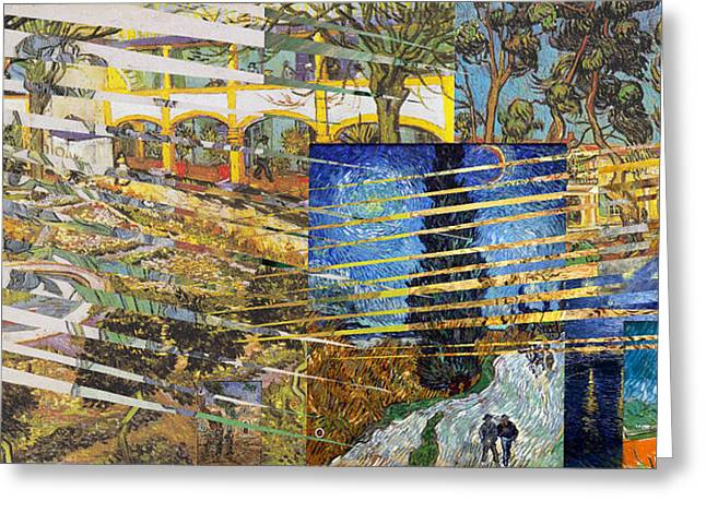 Self-portrait Greeting Cards - Van Gogh Mural Il Greeting Card by David Bridburg