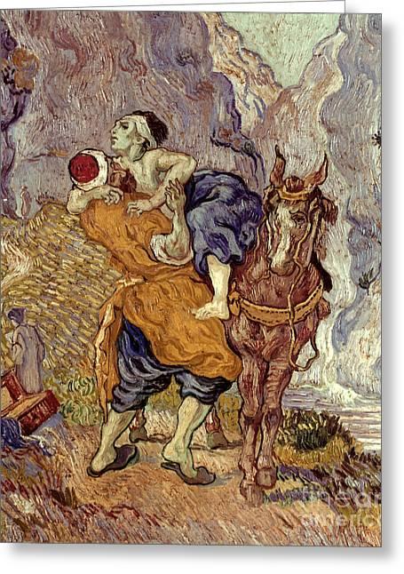 Samaritan Greeting Cards - Van Gogh: Samaritan, 1890 Greeting Card by Granger