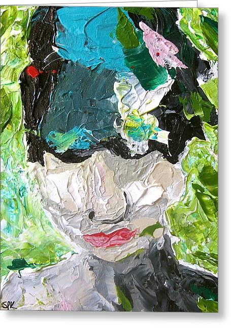 Van Gogh Style Paintings Greeting Cards - Van Gogh Series - Figure No. 2 Greeting Card by Stacy Krieg