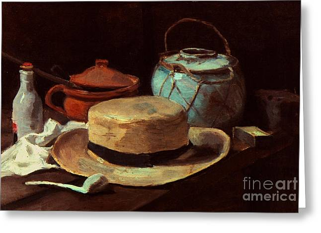 Interior Still Life Greeting Cards - Van Gogh: Still Life, 1885 Greeting Card by Granger