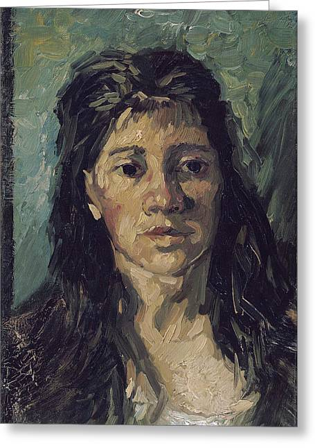 Vincent Van Gogh Greeting Cards - Van Gogh Woman with Hair Loose Greeting Card by Vincent Van Gogh