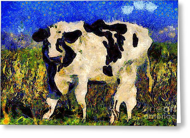 Van Gogh.s Big Bull . 7D12437 Greeting Card by Wingsdomain Art and Photography