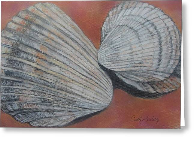 Nautical Pastels Greeting Cards - Van Hynings Cockles Greeting Card by Cathy Lindsey ART