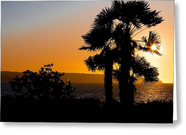 Vancouver Greeting Cards - Vancouver B.C. Sunset Greeting Card by Naman Imagery