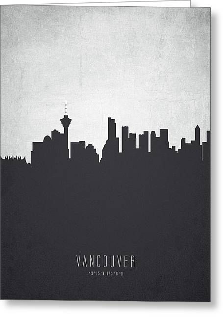 Vancouver British Columbia Cityscape 19 Greeting Card by Aged Pixel