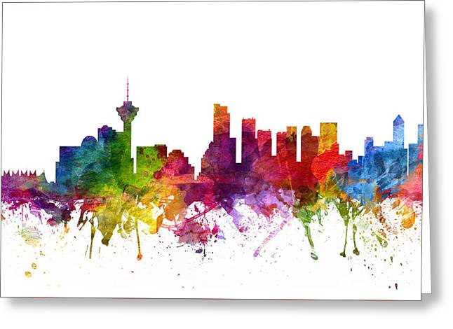 British Columbia Greeting Cards - Vancouver Canada Cityscape 06 Greeting Card by Aged Pixel