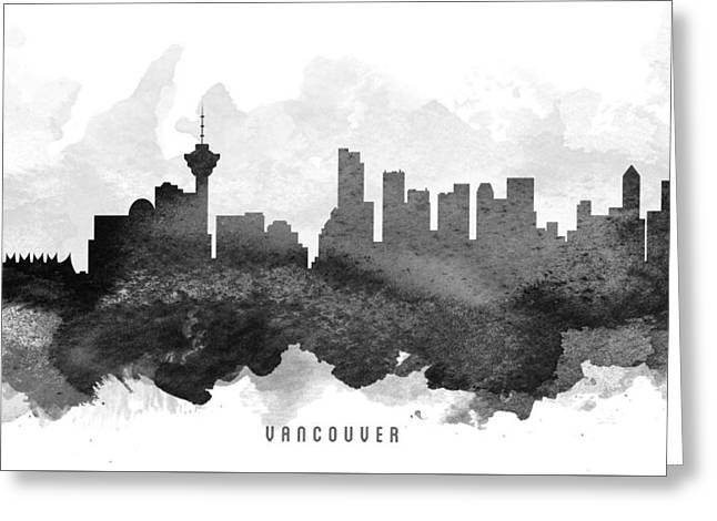 Vancouver Cityscape 11 Greeting Card by Aged Pixel