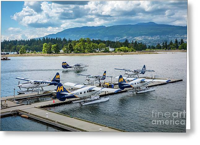 Vancouver Seaplanes Greeting Card by Inge Johnsson