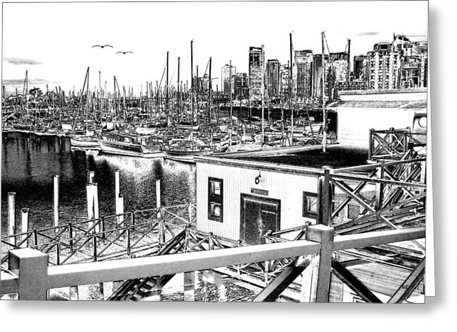 Vancouver Waterfront Greeting Card by Will Borden
