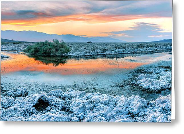Powder Greeting Cards - Vanilla Sunset Greeting Card by Az Jackson