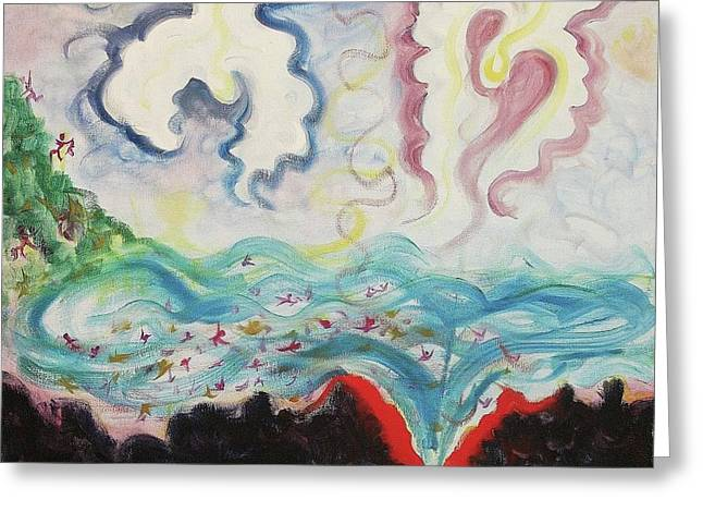 Human Tragedy Greeting Cards - Vanished Tsunami Christmas Greeting Card by Suzanne  Marie Leclair