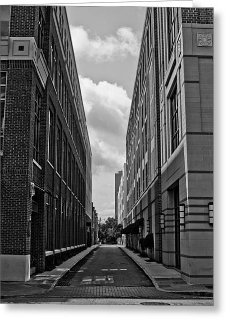 Vanishing Greeting Cards - Vanishing Point Buildings Greeting Card by Dustin K Ryan