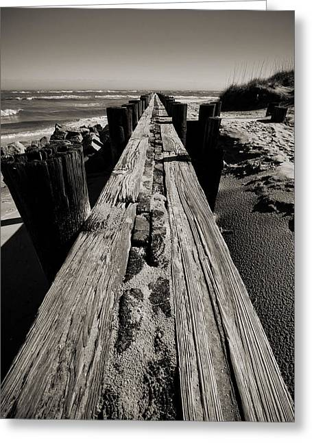 Vanishing Greeting Cards - Vanishing Point Folly Beach Greeting Card by Dustin K Ryan