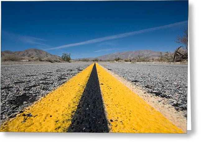 Highway Greeting Cards - Vanishing Point Greeting Card by Peter Tellone