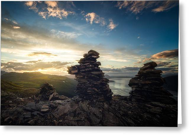 Norge Greeting Cards - Vardan Greeting Card by Tor-Ivar Naess