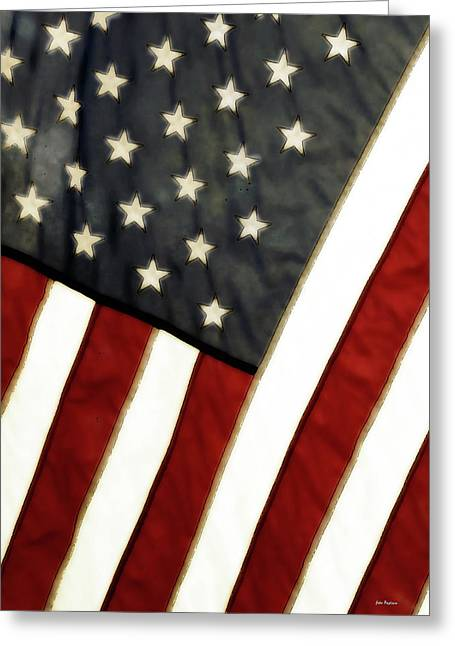 4th Greeting Cards - Variations on Old Glory No.4 Greeting Card by John Pagliuca