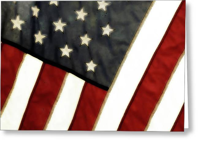 Variations on Old Glory No.4 Greeting Card by John Pagliuca