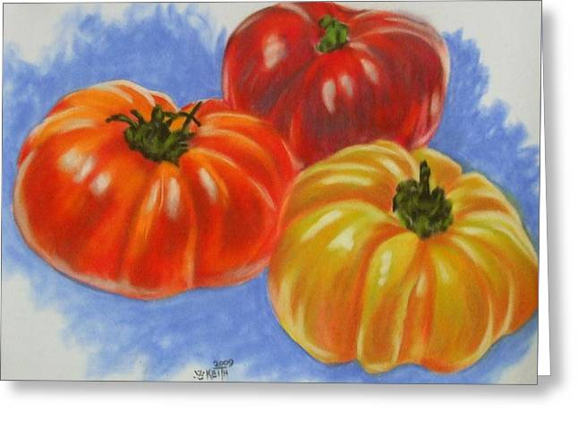 Tomato Pastels Greeting Cards - Variety Greeting Card by Barbara Keith
