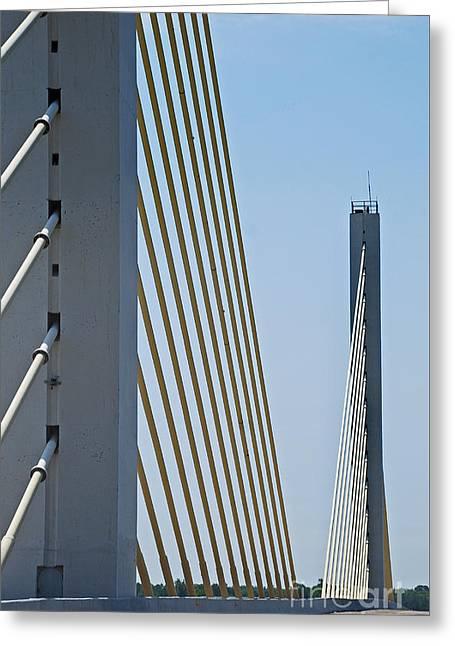 Table Greeting Cards - Varina Enon Bridge In Va Greeting Card by Skip Willits