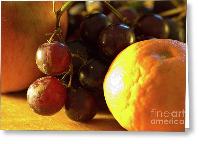 Tangerine Greeting Cards - Various Fruit Greeting Card by Brian Roscorla