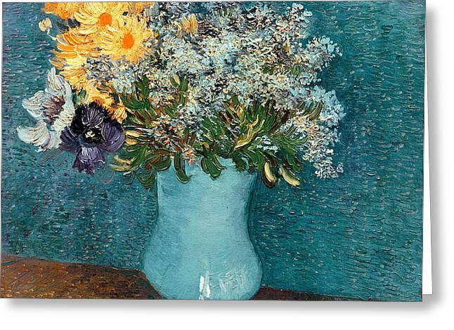 Vase of Flowers Greeting Card by Vincent Van Gogh