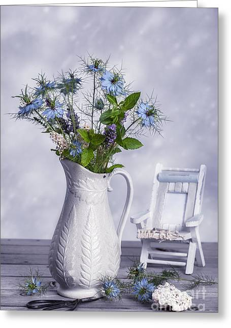 Deck Chairs Greeting Cards - Vase Of Wild Flowers Greeting Card by Amanda And Christopher Elwell