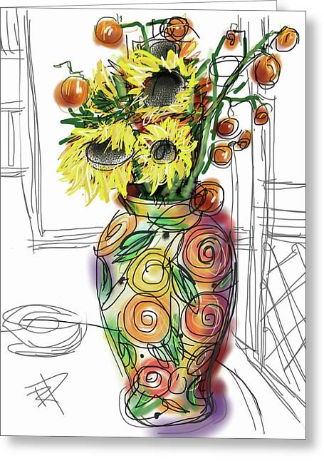 Screen Door Greeting Cards - Vase Greeting Card by Russell Pierce