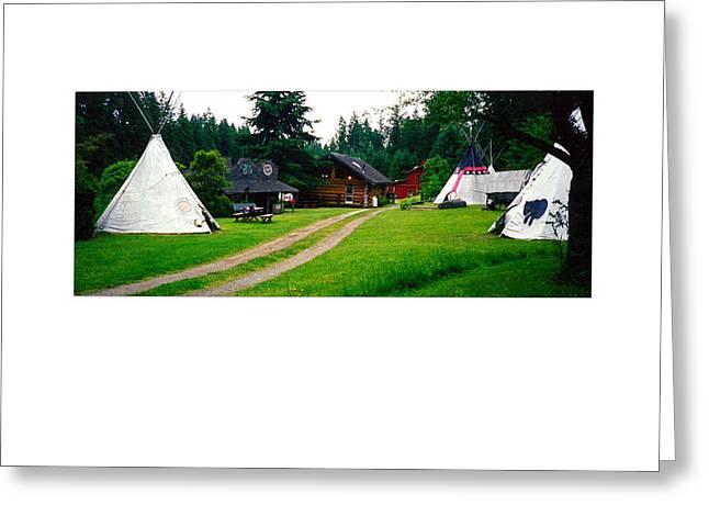 Rush-bed Greeting Cards - Vashon Island Camping ground Greeting Card by Tina M Wenger