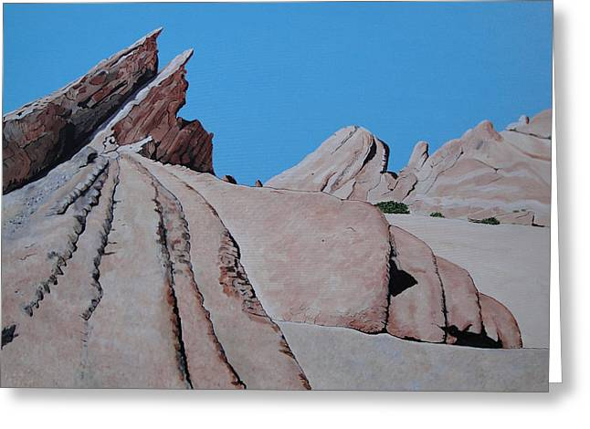 Locations Pastels Greeting Cards - Vasquez Rocks 4 Greeting Card by Stephen Ponting