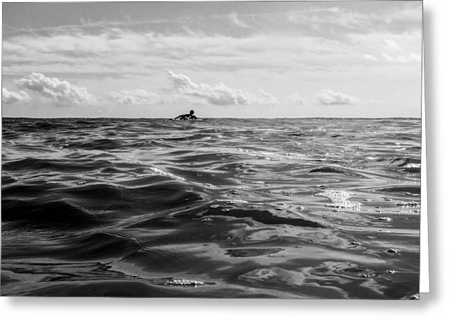 Surfing Art Greeting Cards - Vast Greeting Card by AM Photography