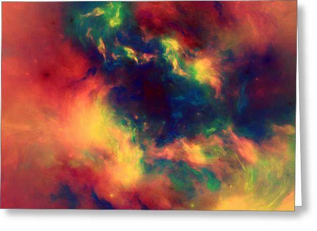 Vast Cosmos Abstract Greeting Card by Georgiana Romanovna