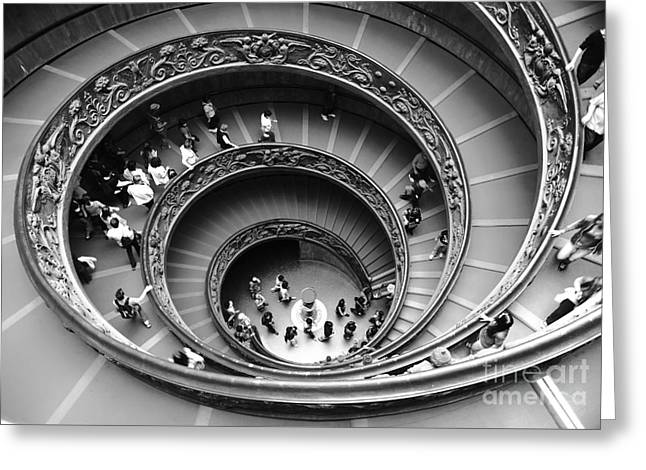 Abstract Shapes Greeting Cards - Vatican BW Greeting Card by Stefano Senise