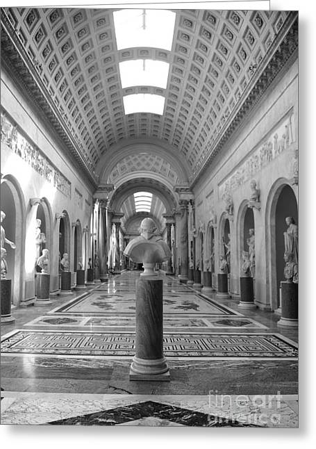 Vatican Museums Gallery Greeting Card by Stefano Senise