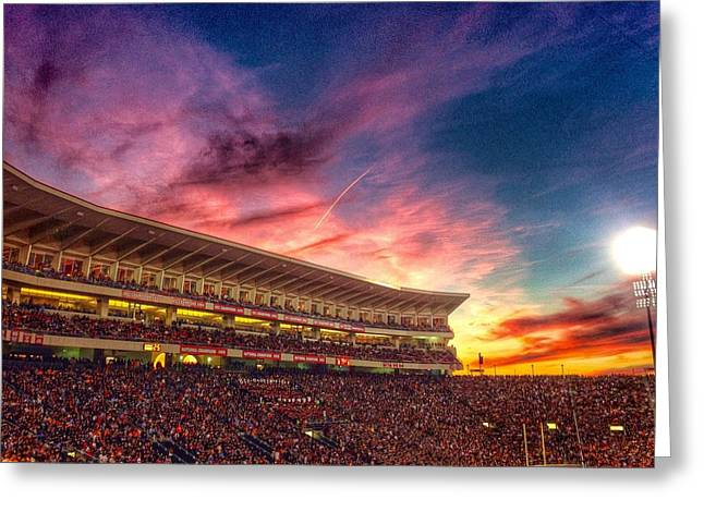 Sec Greeting Cards - Vaught-Hemingway sunset  Greeting Card by Matt Taylor