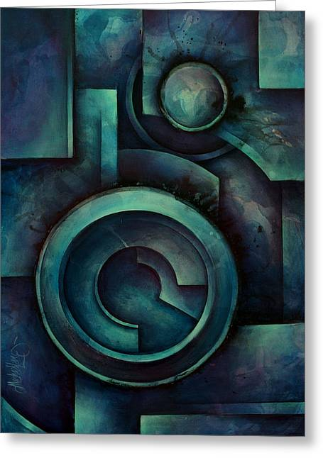 Geometric Design Greeting Cards - Vault Greeting Card by Michael Lang