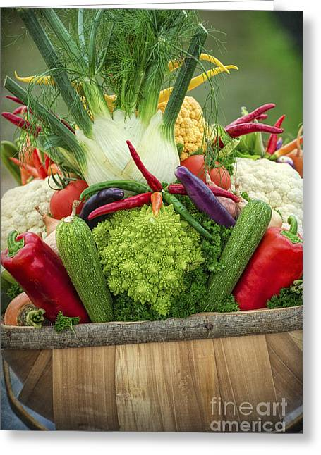 Veg Trug Greeting Card by Tim Gainey