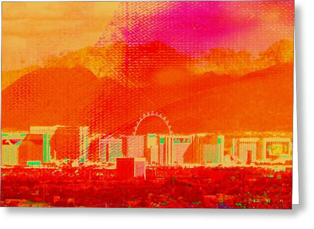 Lioness Greeting Cards - Vegas Mid Strip  Greeting Card by Michelle Dallocchio