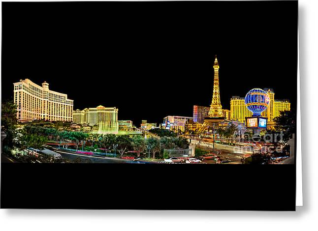 Bellagio Greeting Cards - Vegas Splendor  Greeting Card by Az Jackson