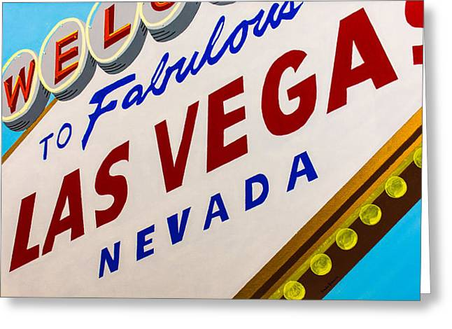 Las Vegas Art Greeting Cards - Vegas Tribute Greeting Card by Slade Roberts