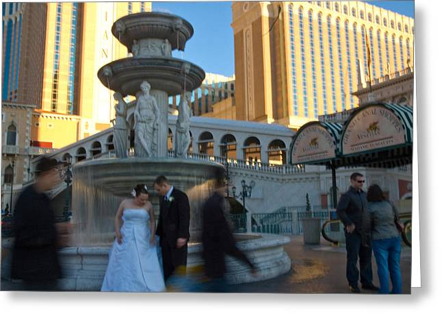 Just Married Greeting Cards - Vegas Valentine Greeting Card by Edwin Voorhees