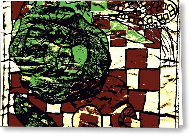 Lettuce Mixed Media Greeting Cards - Vegetable Cutting Board Greeting Card by Sheri Parris