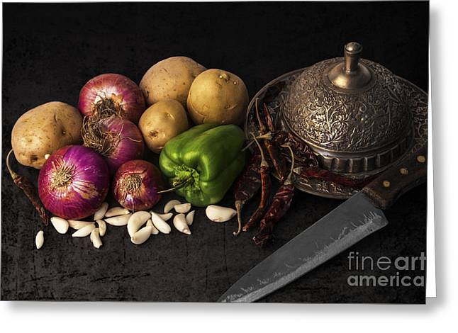 Chilies Greeting Cards - Vegetables Greeting Card by Charuhas Images