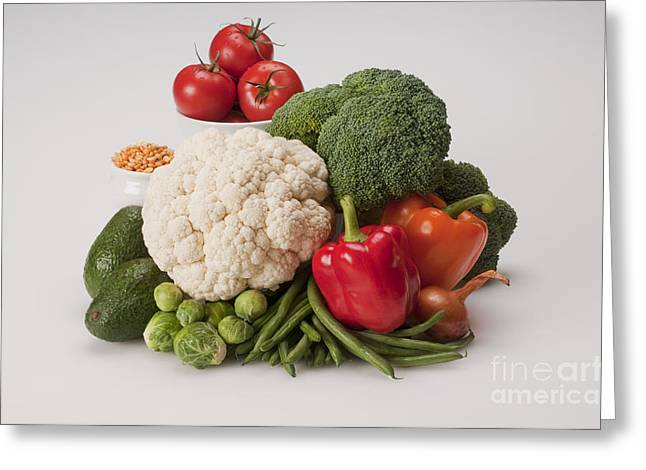 Broccoli Greeting Cards - Vegetables Greeting Card by George Mattei