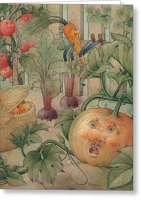 Vegetables Greeting Card by Kestutis Kasparavicius